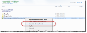 Converting a DTV File
