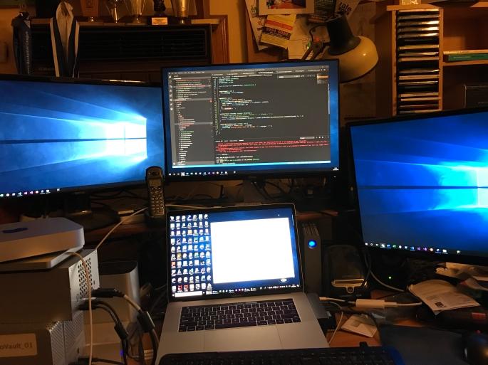 My Mac OSX machine, looking more like a Windows machine