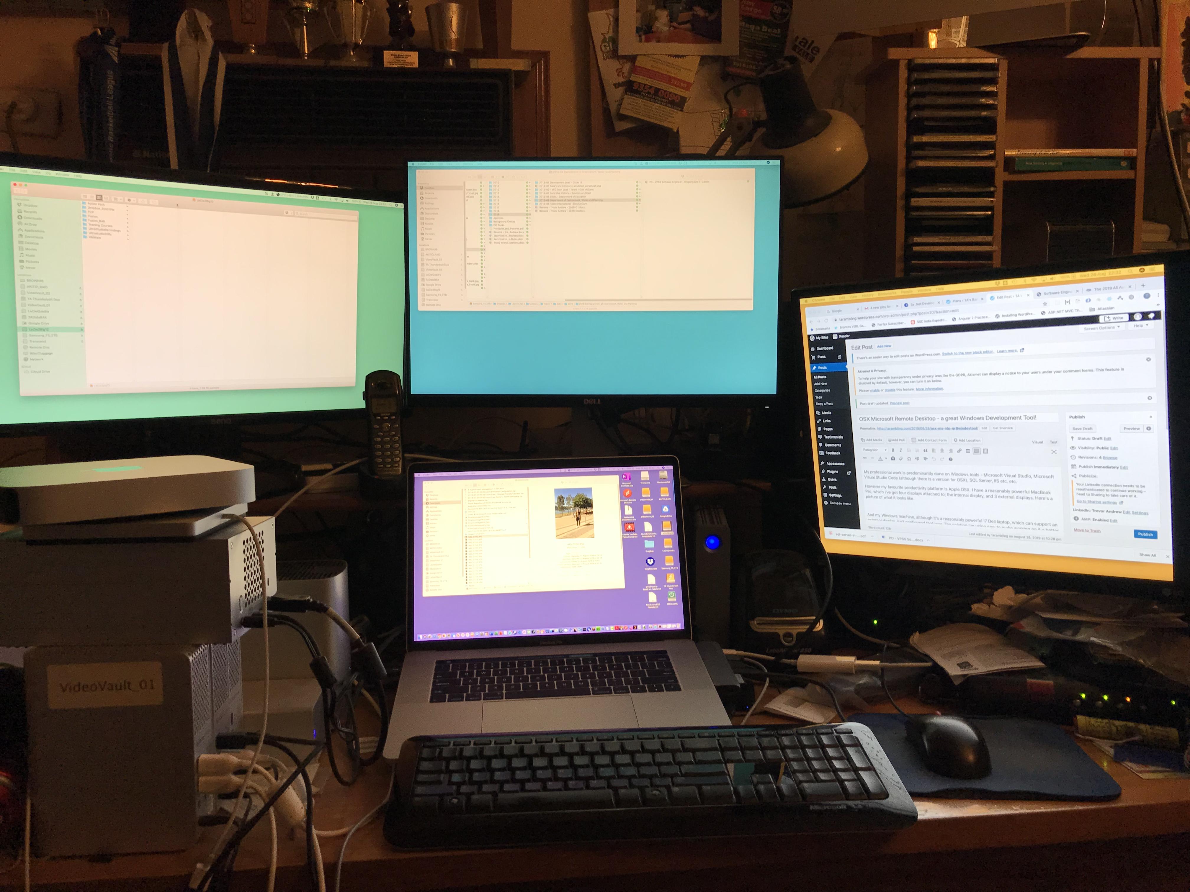 Multiple Displays on my MacBook Pro